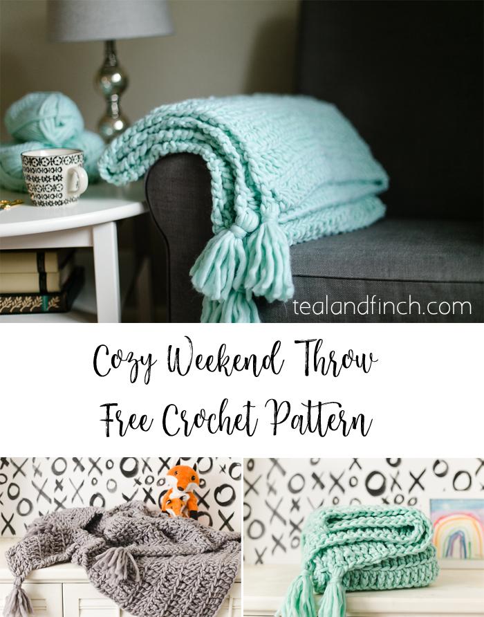 cozy weekend throw free crochet pattern