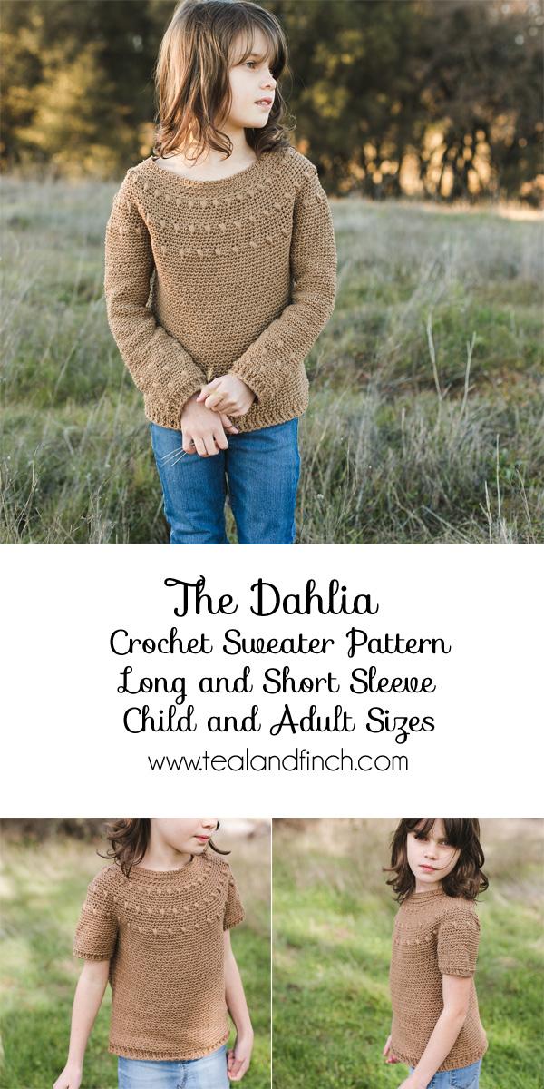 dahlia crochet sweater pattern
