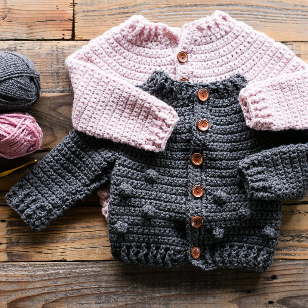 Bobble Baby Cardigan Crochet Pattern » Teal & Finch