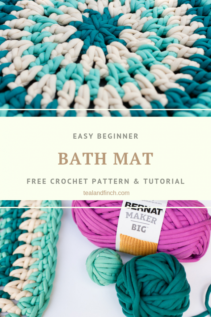 Quick and Easy Crochet Rug Pattern » Teal & Finch