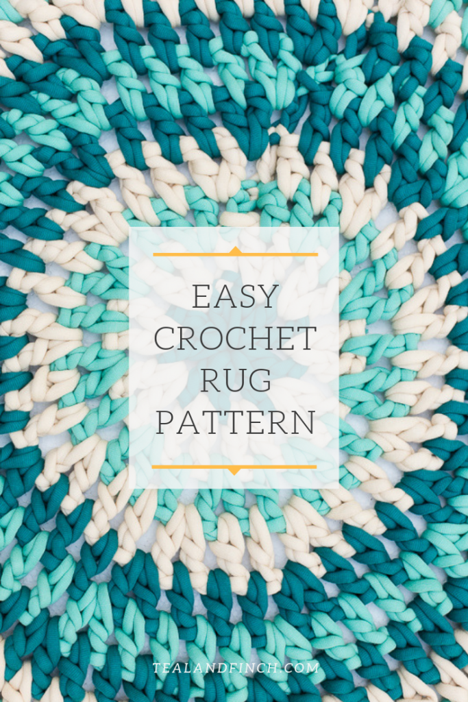 Quick And Easy Crochet Rug Pattern Teal Finch