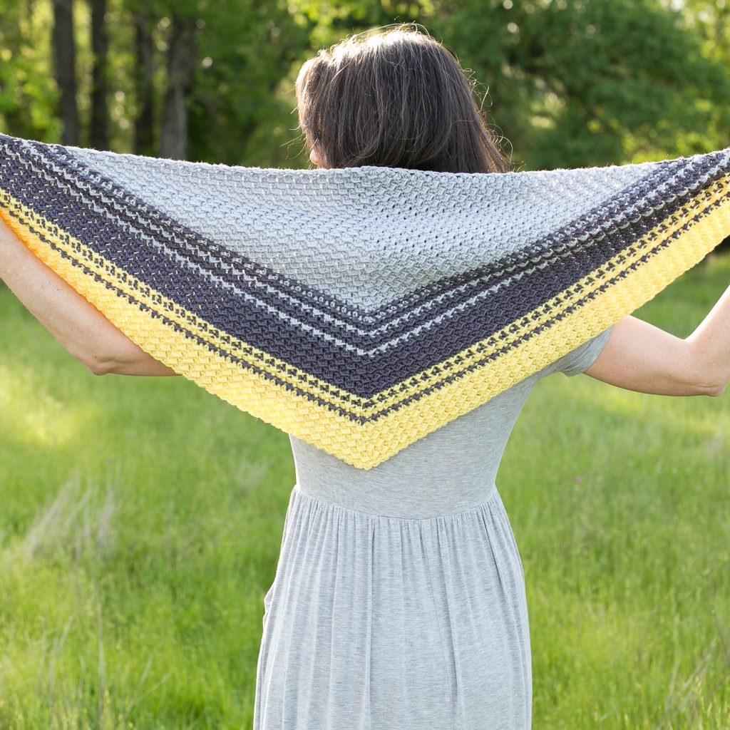The Cirra Shawlette crochet pattern.