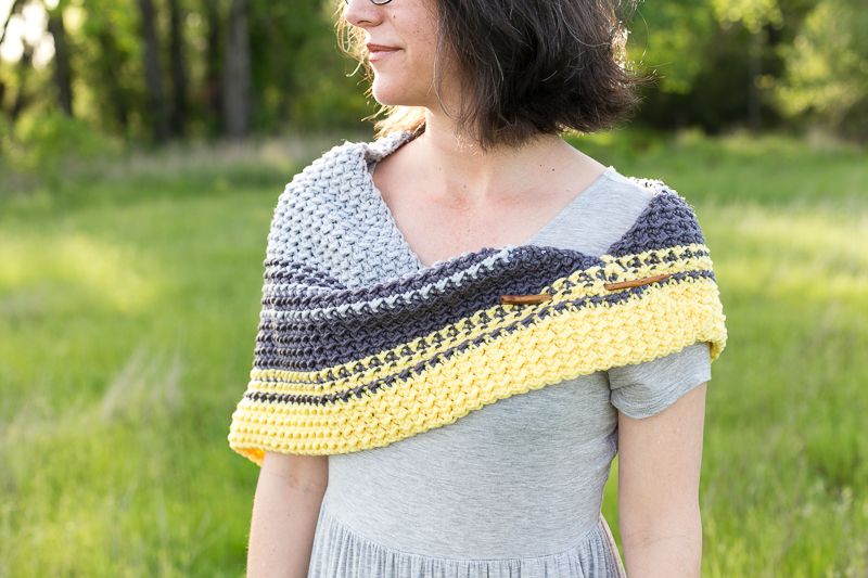 Cirra shawlette crochet pattern is a great gift idea for all levels.