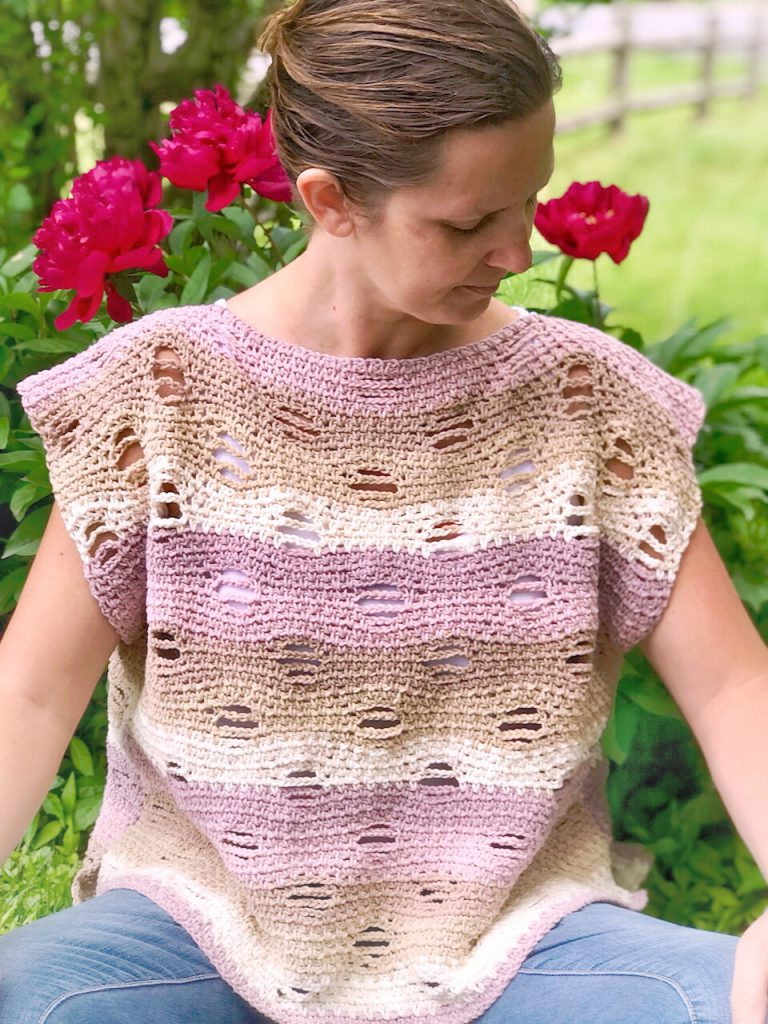 Pattern tester for Coral Skies Top.