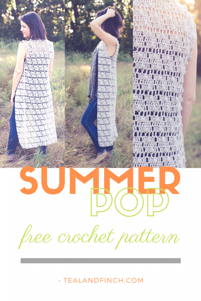 The summer pop vest is a free crochet pattern great for a variety of events.