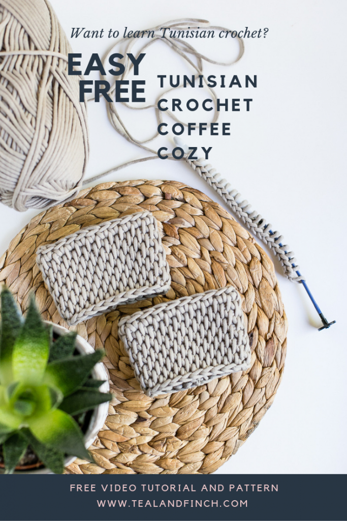 Learn tunisian crochet with free pattern and video tutorial.