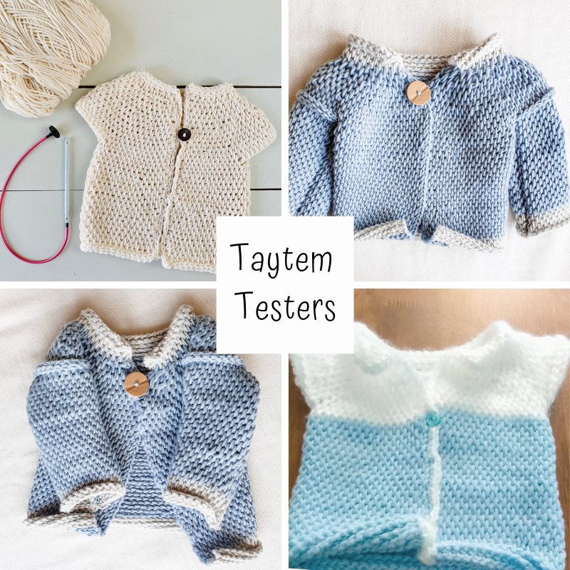 Taytem baby sweater tester photos.